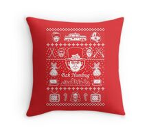 Merry Scroogedmas Throw Pillow