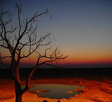Namibian Night sky at sunset. by rzr69