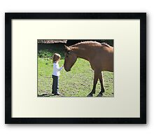 Just saying hello. Framed Print