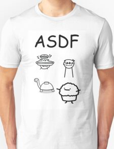 ASDF Trains Pie Turtle Muffin  T-Shirt
