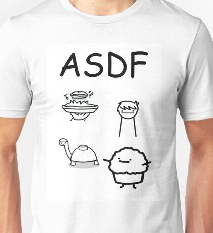 ASDF Trains Pie Turtle Muffin  Unisex T-Shirt