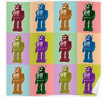Pop Art Robots Poster