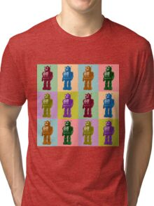 Pop Art Robots Tri-blend T-Shirt
