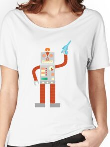 Raygun Robot Invasion Women's Relaxed Fit T-Shirt