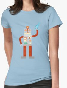 Raygun Robot Invasion Womens Fitted T-Shirt