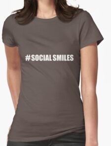 #SOCIALSMILES - for dark background - PLATFORM58 Womens Fitted T-Shirt