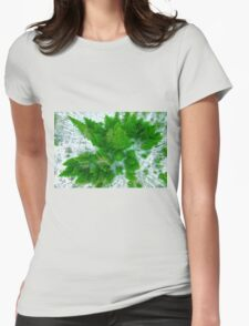 Tree top view Womens Fitted T-Shirt