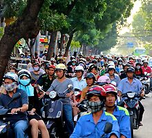 Countless Motorbikes - Ho Chi Minh City, Vietnam. by Tiffany Lenoir
