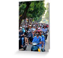 Countless Motorbikes - Ho Chi Minh City, Vietnam. Greeting Card
