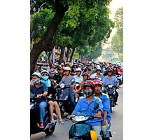 Countless Motorbikes - Ho Chi Minh City, Vietnam. Photographic Print