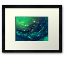 the sky lake Framed Print