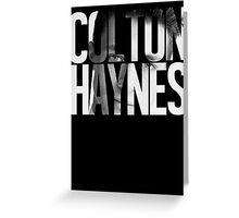 Colton Haynes Greeting Card
