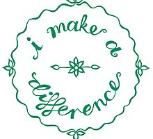 I make a difference by Sandra  Vincent
