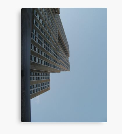 Looking straight up at Empire State Building Canvas Print