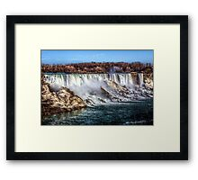 Winter At Niagara Framed Print