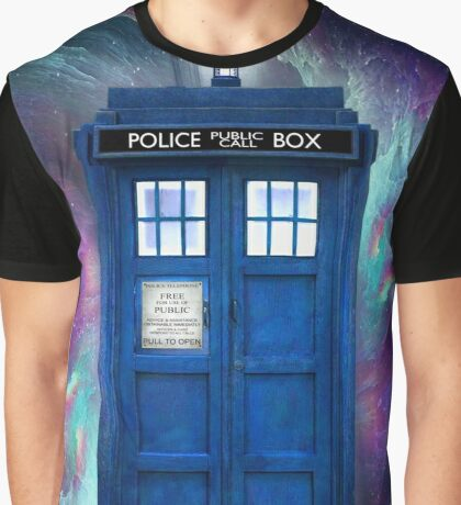 Doctor Who Tardis in Space Graphic T-Shirt