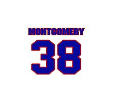 National football player Blanchard Montgomery jersey 38 Photographic Print