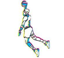 Michael Jordan retro 80's tribute artwork by danielabela