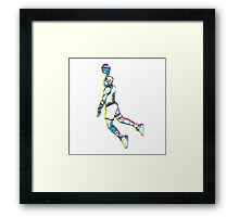 Michael Jordan retro 80's tribute artwork Framed Print