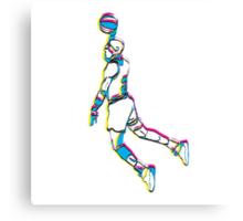 Michael Jordan retro 80's tribute artwork Canvas Print