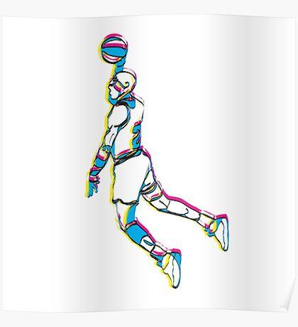 Michael Jordan retro 80's tribute artwork Poster