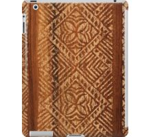 Samoan Tapa Faux Koa Wood Hawaiian Surfboard  iPad Case/Skin