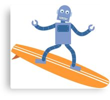 Surfing Robot Canvas Print