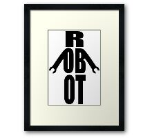 Word Robot Framed Print