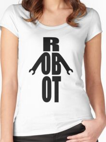 Word Robot Women's Fitted Scoop T-Shirt