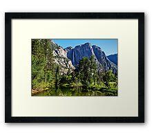 View from the Swinging Bridge, Yosemite National Park, California, USA Framed Print