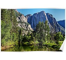 View from the Swinging Bridge, Yosemite National Park, California, USA Poster