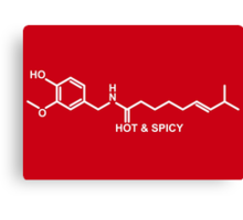 Hot and Spicy: Capsaicin Molecule Canvas Print