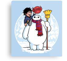 Inflatable Snowman Metal Print