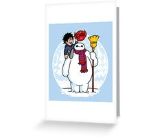 Inflatable Snowman Greeting Card