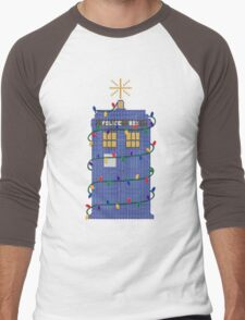 Happy Christmas from the TARDIS Men's Baseball ¾ T-Shirt