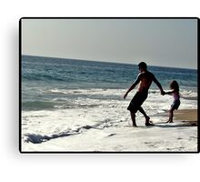 Daddy dont let go! Canvas Print