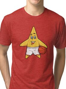 Shooting Star Cartoon Style Tri-blend T-Shirt