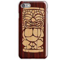 Tiki Ailani Faux Koa Wood Hawaiian Surfboard  iPhone Case/Skin