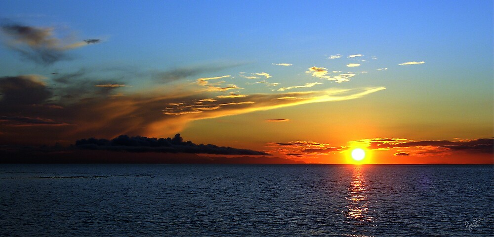 October Sunset Two by Rick Lawler