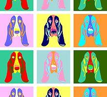 Basset Hound Pop Art by pounddesigns