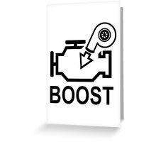 Boost Engine Greeting Card