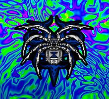 Black Widow Illustrated Chrome Spider - Lime, Royal and Purple by DriveIndustries