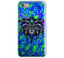 Black Widow Illustrated Chrome Spider - Lime, Royal and Purple iPhone Case/Skin