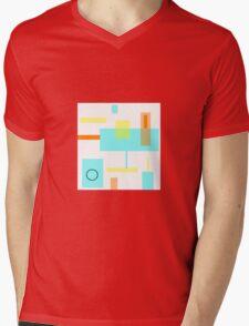GOLD and AQUAMARINE, MOD design Mens V-Neck T-Shirt