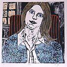 """Woodcut Print of Joan  by Belinda """"BillyLee"""" NYE (Printmaker)"""