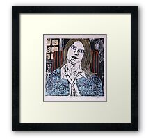 Woodcut Print of Joan  Framed Print