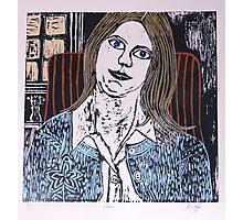 Woodcut Print of Joan  Photographic Print