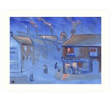 The fish and chip shop (from my original acrylic painting) Art Print