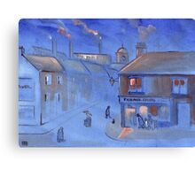 The fish and chip shop (from my original acrylic painting) Canvas Print