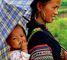 A Baby and his Young Mother - Sa Pa, Vietnam. by Tiffany Lenoir